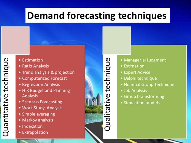 forecasting techniques technical analysis