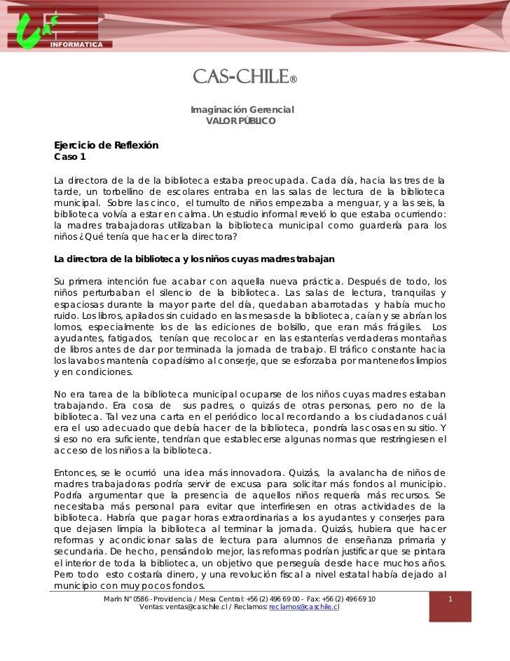 CAS-CHILE®                                      Imaginación Gerencial                                         VALOR PÚBLIC...