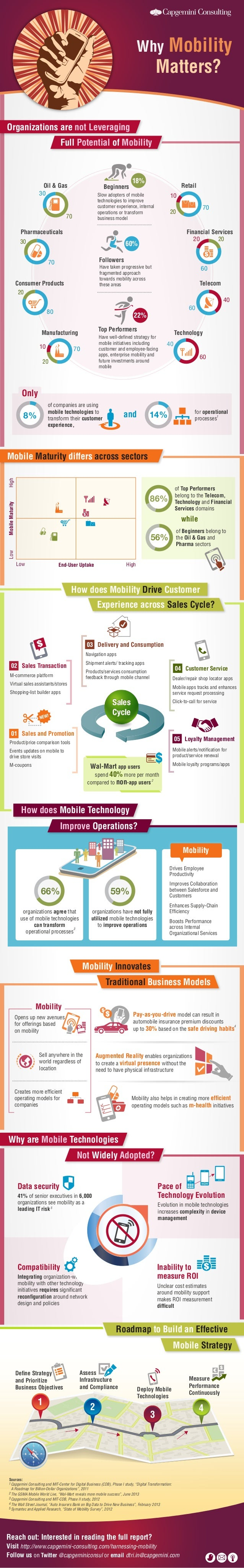 Mobility Matters?  Why  Organizations are not Leveraging Full Potential of Mobility  Oil & Gas  Beginners  30  18%  Retail...
