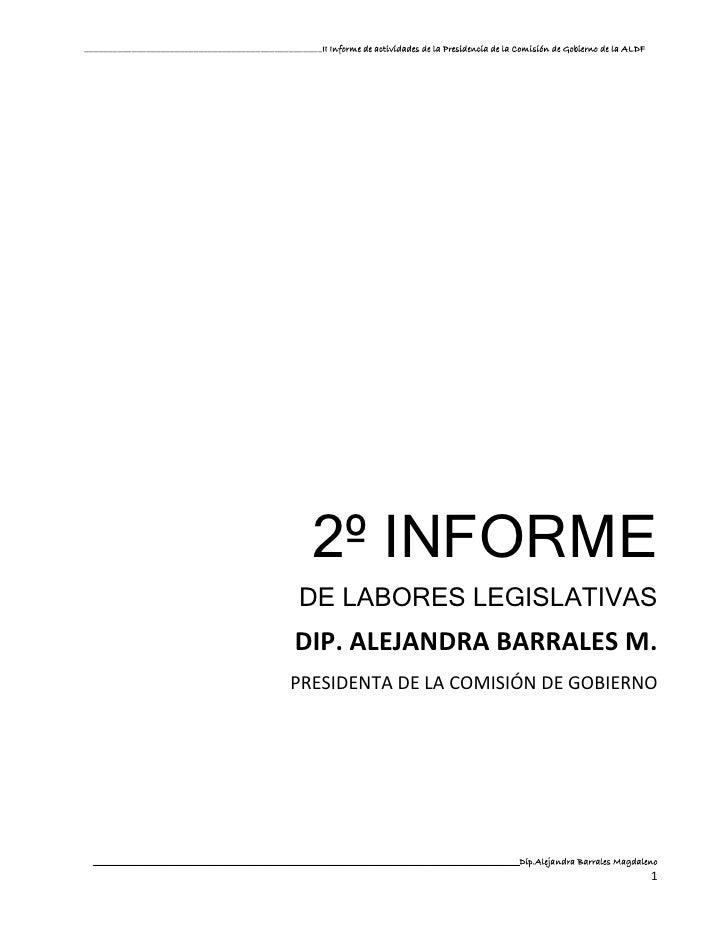2° Informe de Labores Legislativas