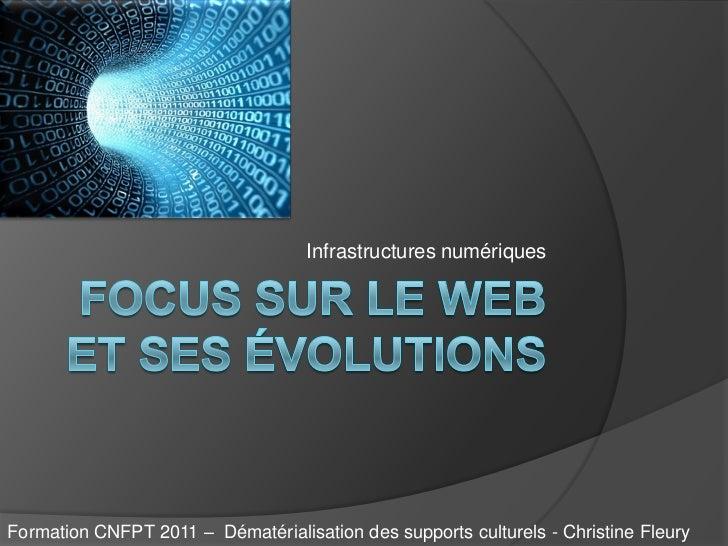 Infrastructures numériquesFormation CNFPT 2011 – Dématérialisation des supports culturels - Christine Fleury
