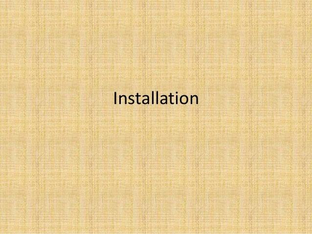 2, installation