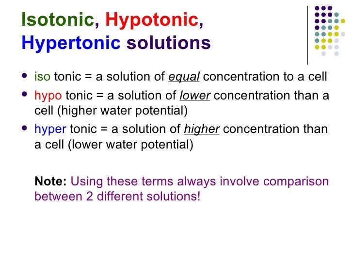hypertonic hypotonic isotonic worksheet