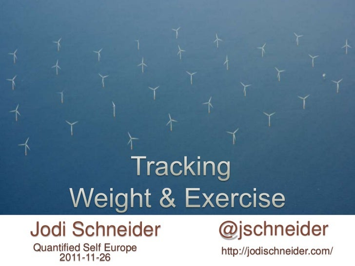 Weight and exercise tracking with the Hacker Diet - Jodi Schneider