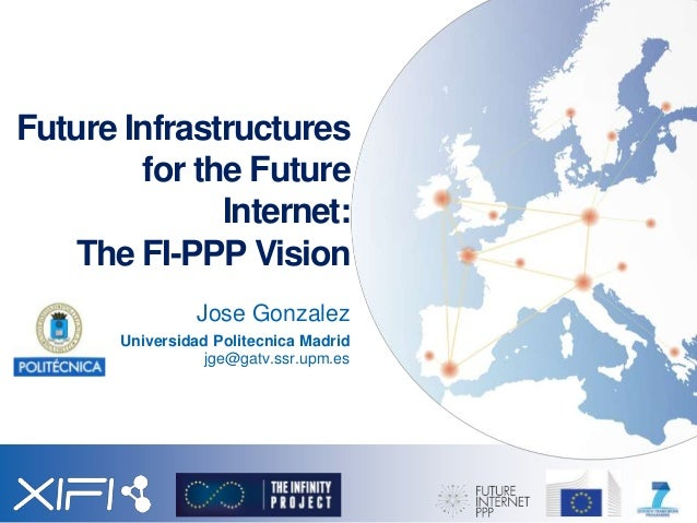 Future Infrastructures for the Future Internet: The FI-PPP Vision Jose Gonzalez Universidad Politecnica Madrid jge@gatv.ss...