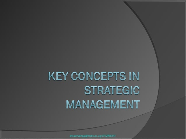 2 key concepts in sm