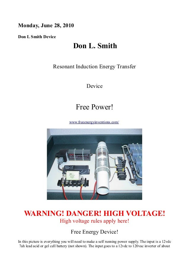 2k w free energy device don smith