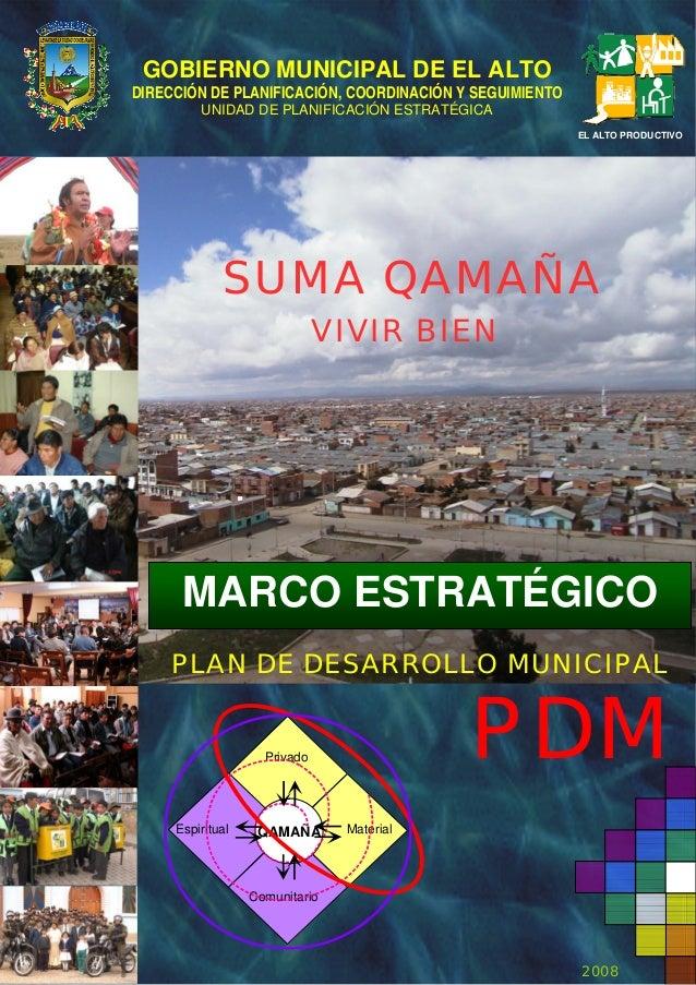 2 Marco Estratégico PDM El Alto 2007 2011