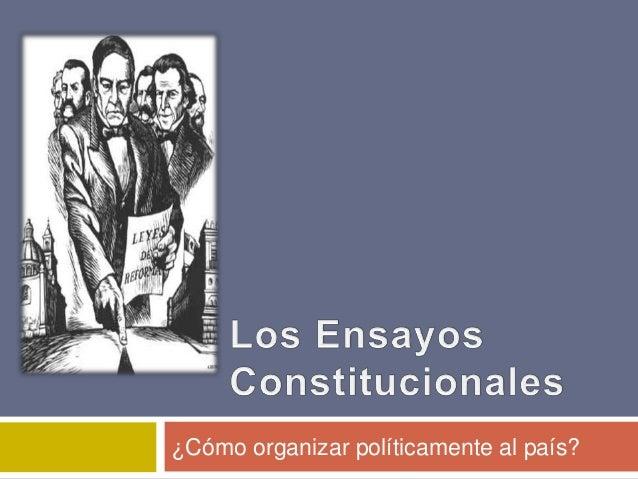 ¿Cómo organizar políticamente al país?