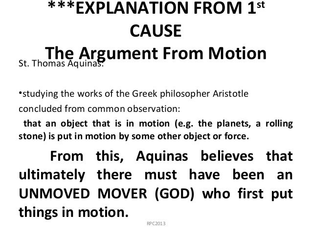 explanation of gods existence in the ontological argument by st anselm and the five ways by thomas a The ontological argument is widely thought to have been first clearly articulated by st anselm of canterbury, who defined god as the greatest conceivable being anselm's reasoning was that, if a being existed only in the mind but not in reality, then a greater being was conceivable (a being which .