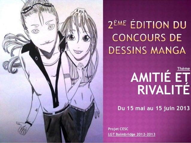 2ème édition du concours de dessins manga