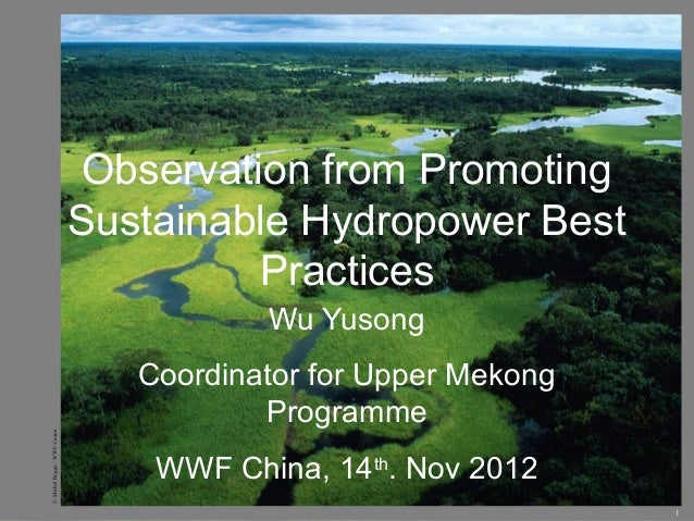 Observation from Promoting                             Sustainable Hydropower Best                                       P...