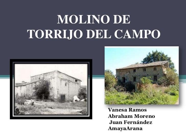 MOLINO DETORRIJO DEL CAMPO          Vanesa Ramos          Abraham Moreno          Juan Fernández          AmayaArana