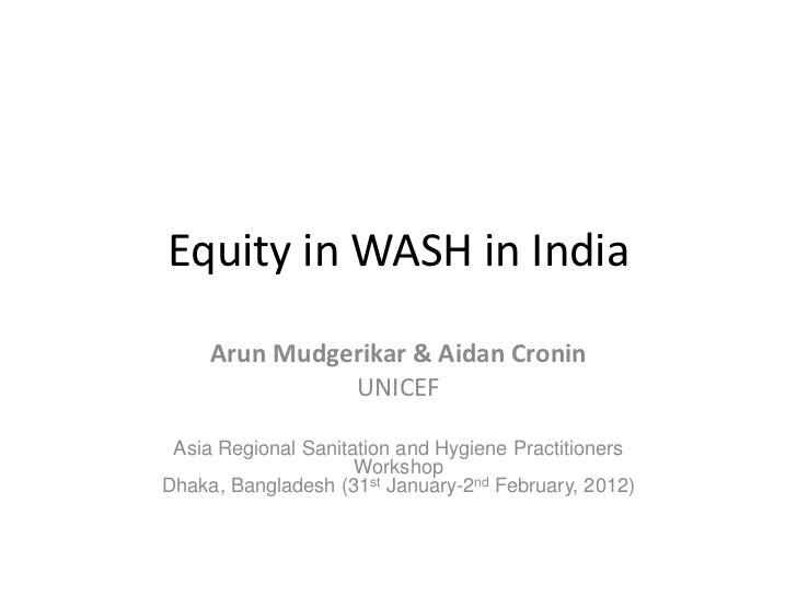 Review of the status of equity in WASH programming in India
