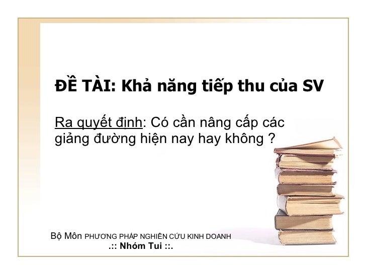De tai Giang Duong va SV truong DHKT