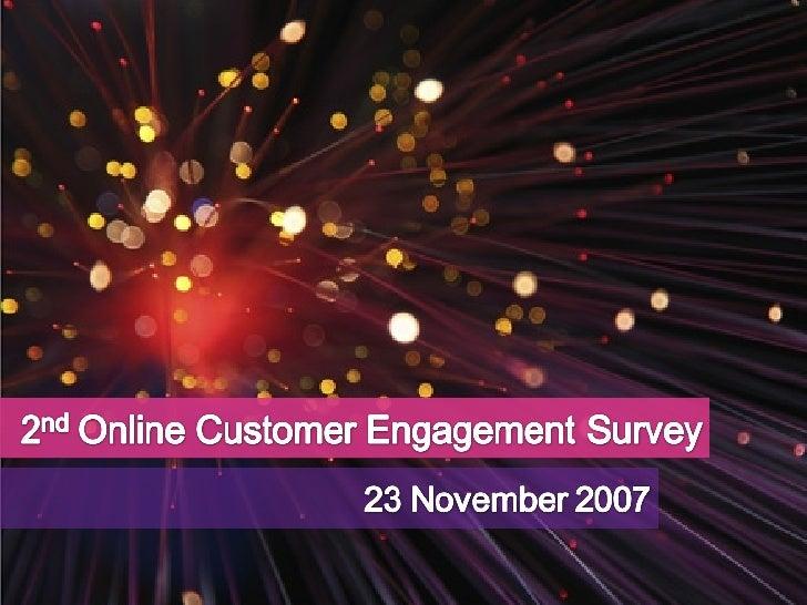 2nd Online Customer Engagement Survey