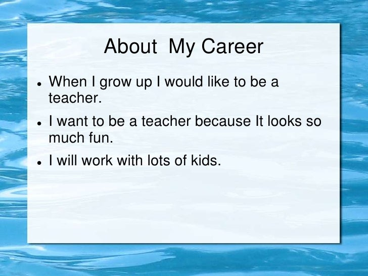 essay on my dream to become a teacher
