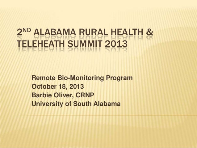 Barbie Oliver - University of South AL Telehealth