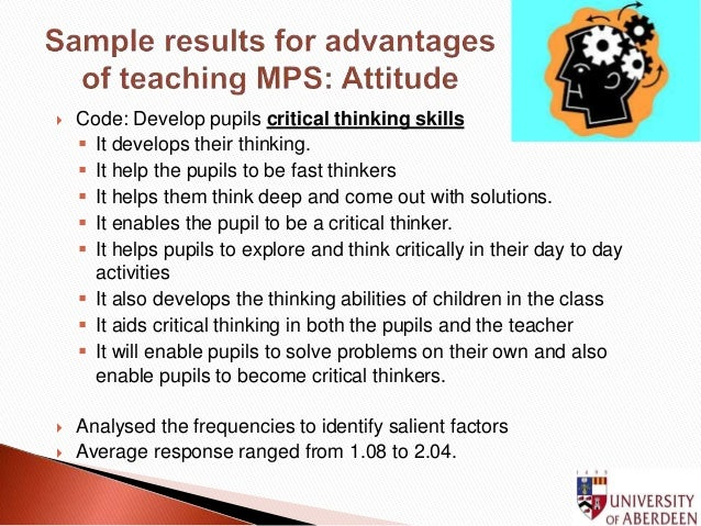 problem solving and critical thinking in the classroom