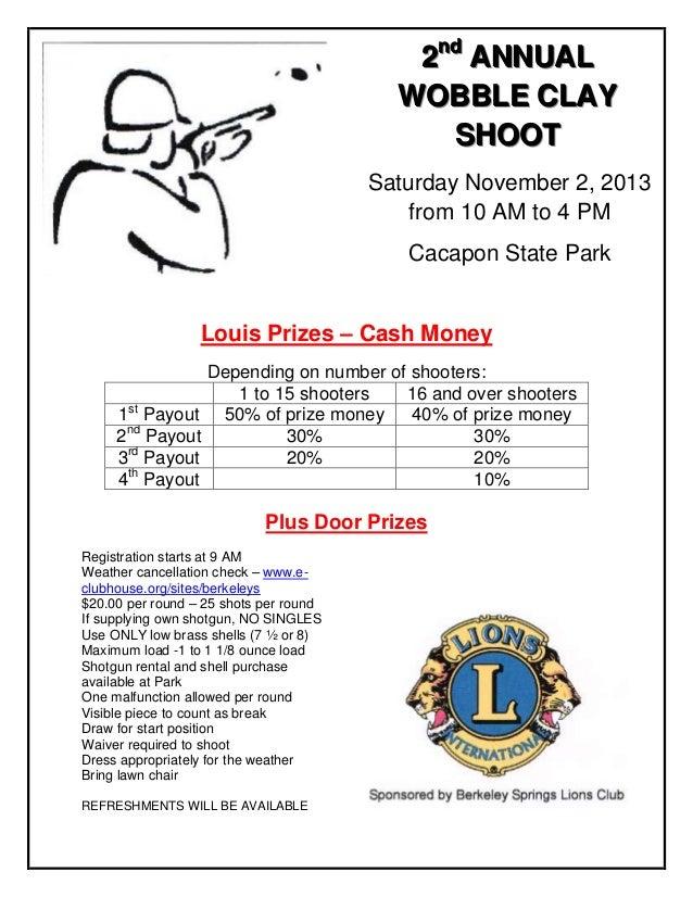 2nd annual wobble clay louis shoot