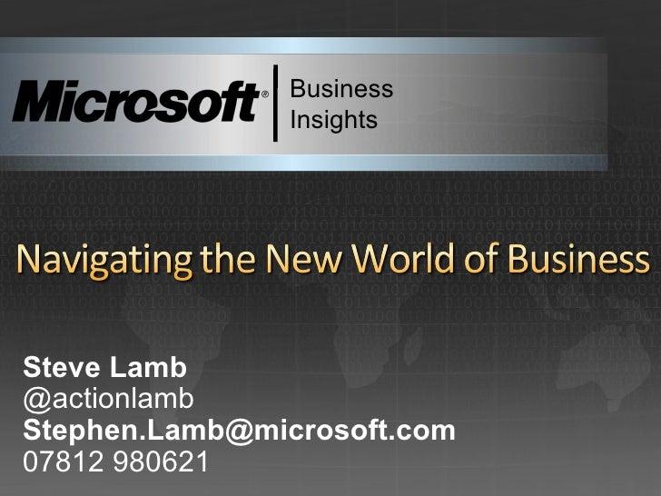 2nd April Steve Lamb Issm Talk Re New World Of Business