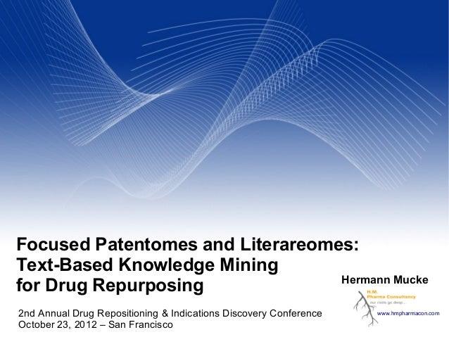Patent Knowledge Mining for Drug Repurposing