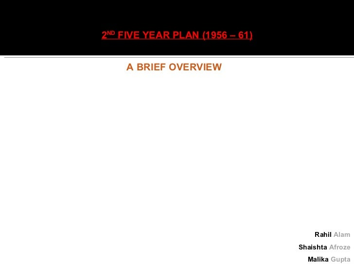 2nd five year plan INDIA