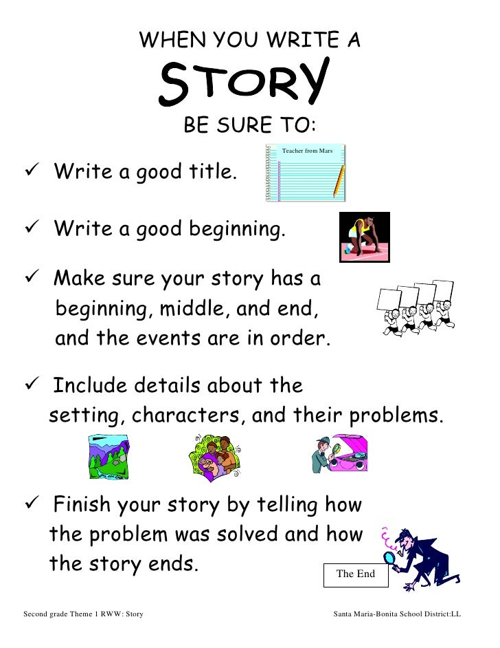 Steps for writing a story