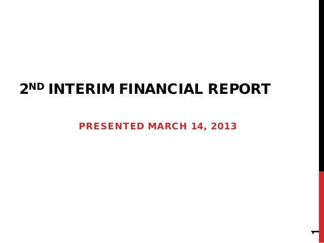 2nd interim financial report