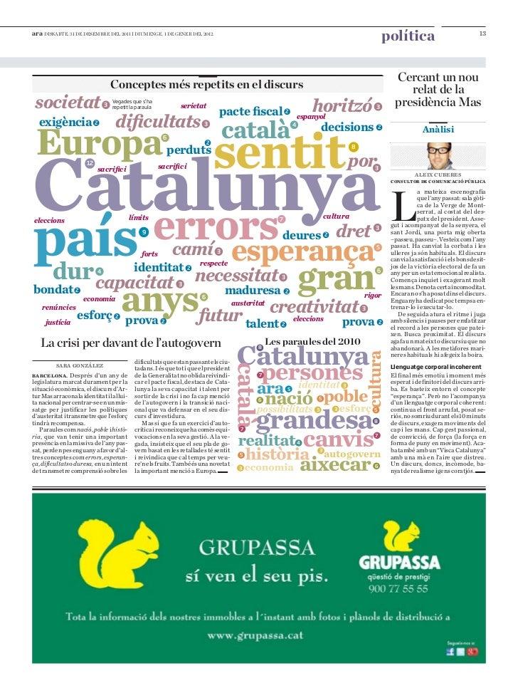 Cercant un nou relat per a la Presidència d'Artur Mas