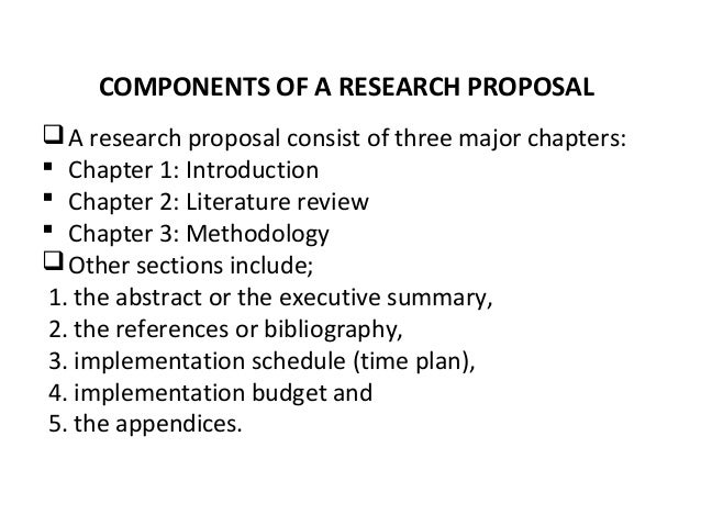 Parts of research methodology