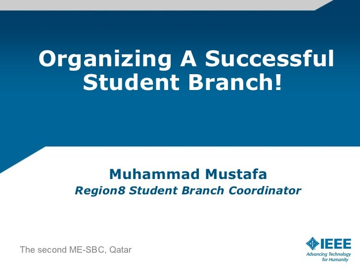IEEE Student Branch Operations