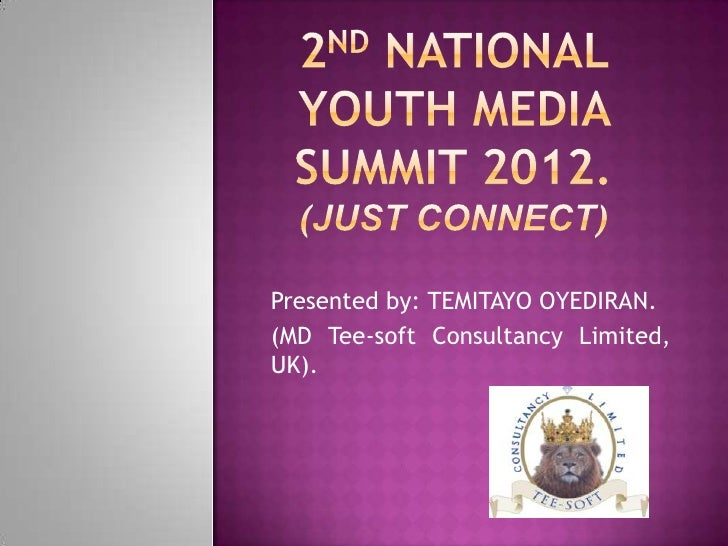 2 nd national youth media summit 2012