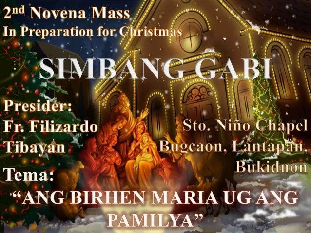 2nd novena mass of christmas