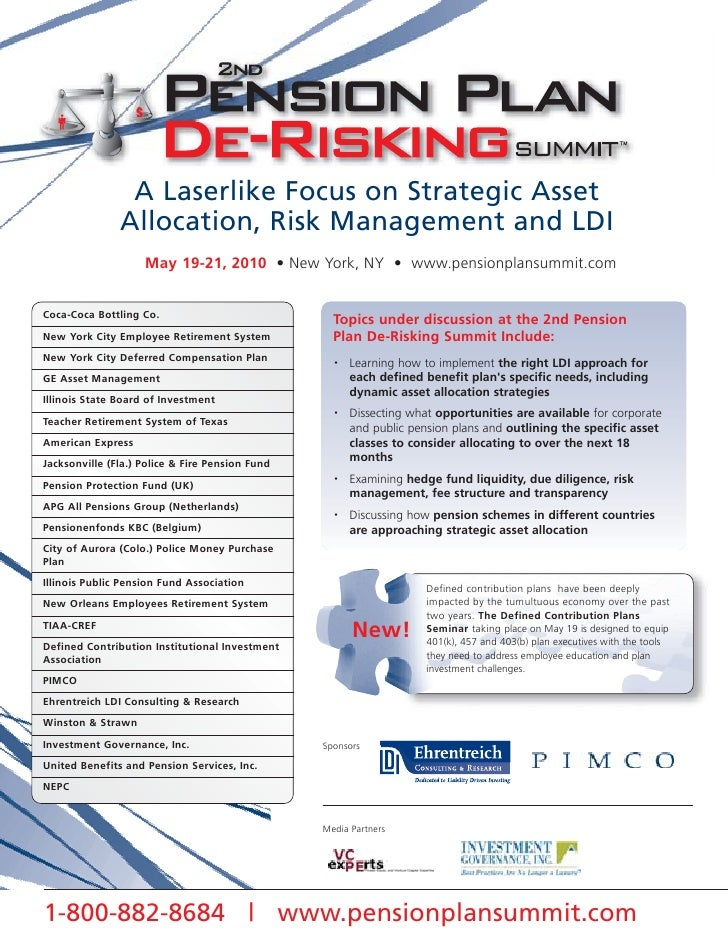 A Laserlike Focus on Strategic Asset                Allocation, Risk Management and LDI                     May 19-21, 201...