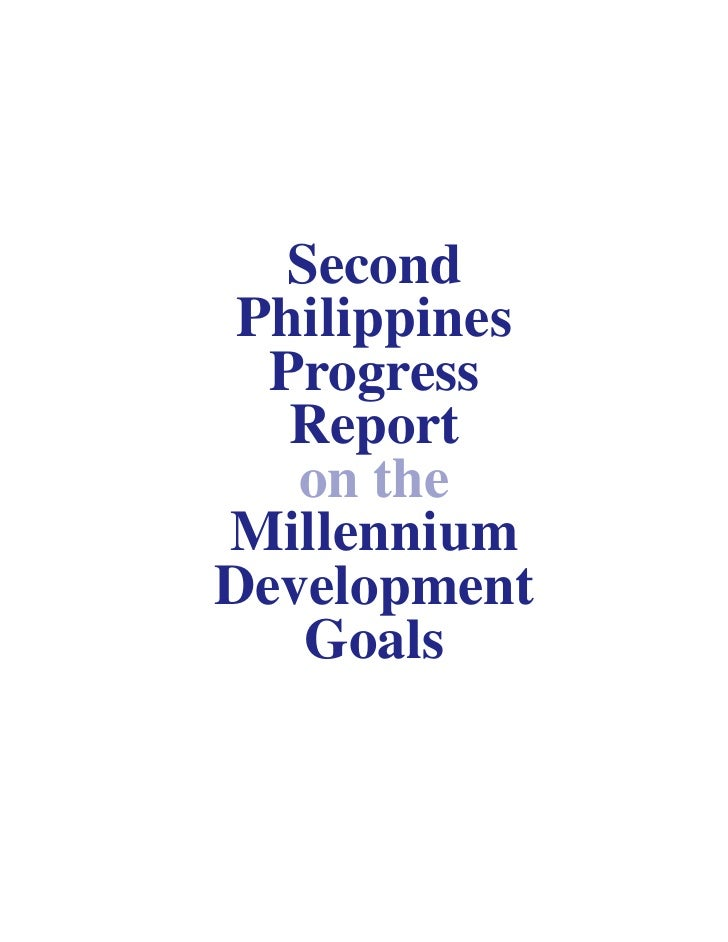 Second Philippines Progress Report on the Millennium Development Goals