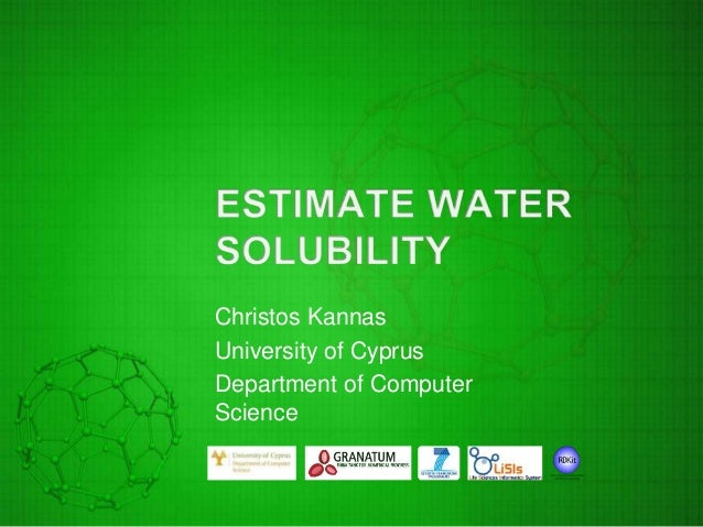 Estimate Water Solubility