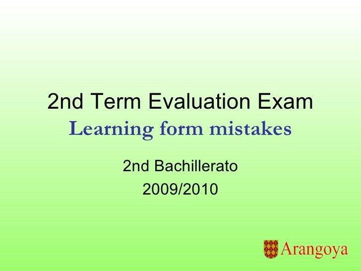 2nd term evaluation exam 200910