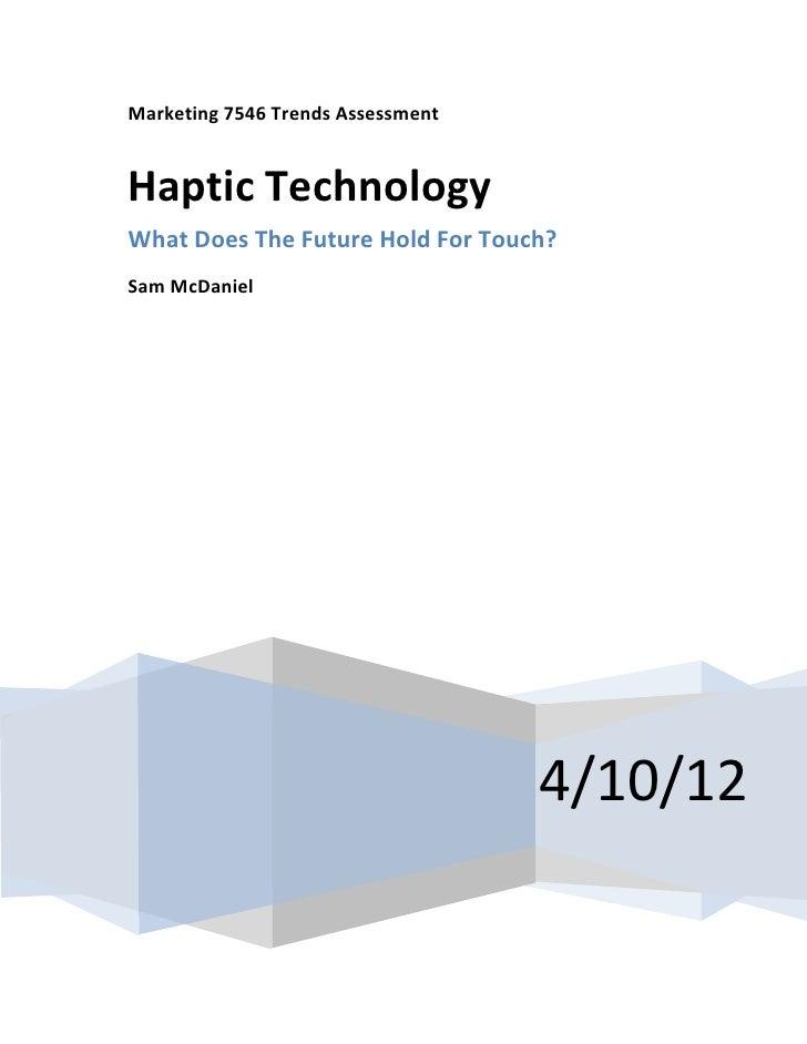 Haptic Technology Trend Assessment Paper