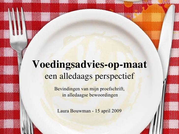 Voedingsadvies-op-maat   een alledaags perspectief   Bevindingen van mijn proefschrift, in alledaagse bewoordingen Laura B...