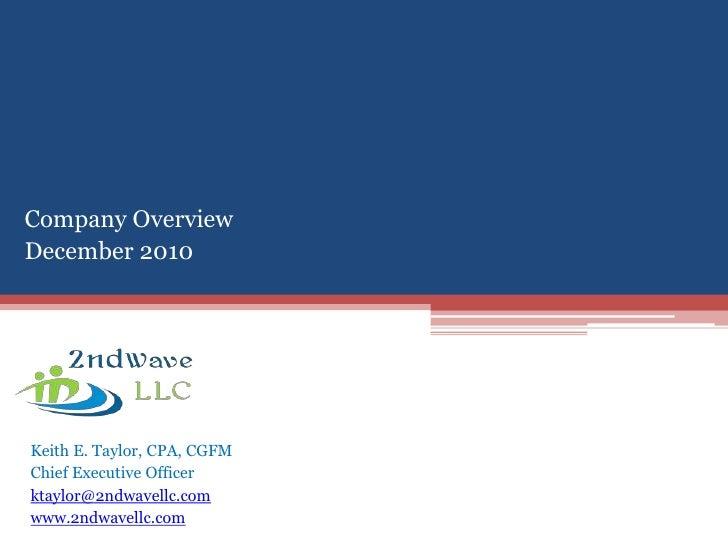 2ndwave LLC Company Overview  - Dec 2010