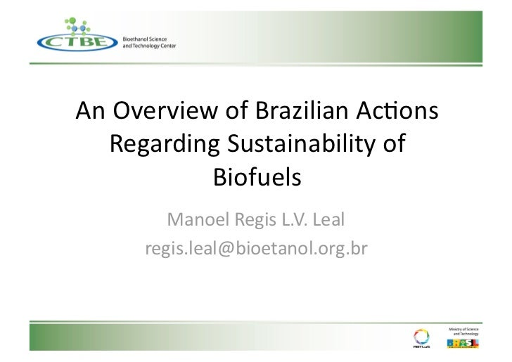 An Overview of Brazilian Actions Regarding Sustainability of Biofuels