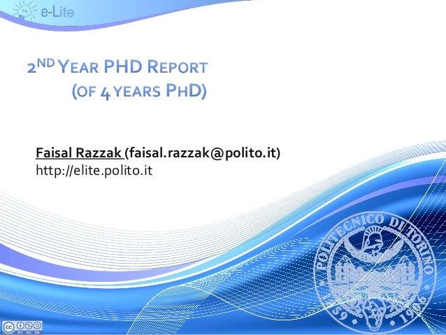 Faisal Razzak (faisal.razzak@polito.it) http://elite.polito.it