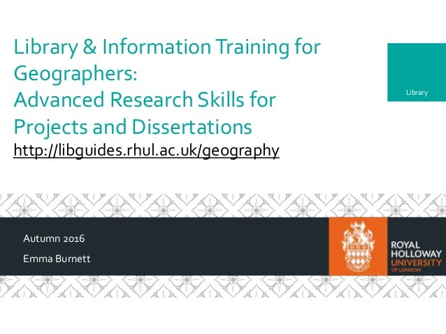 geography dissertations