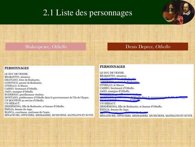 Resume of othello