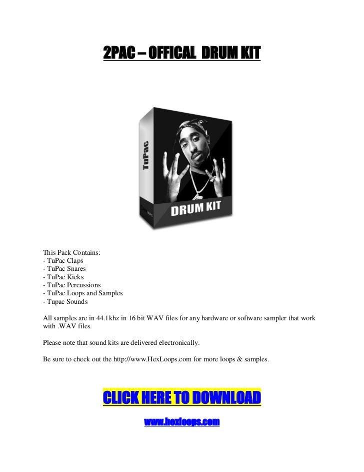 Download 2PAC OFFICAL DRUMKIT