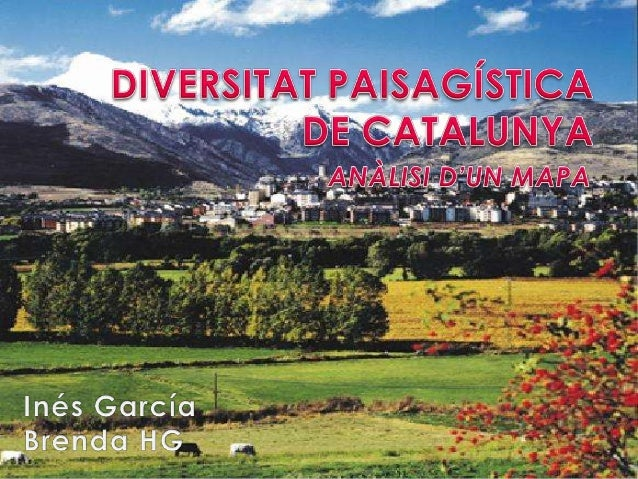   El mapa mostra les unitats de paisatge de la regió de Catalunya i reflecteix la diversitat de paisatges que existeixen.