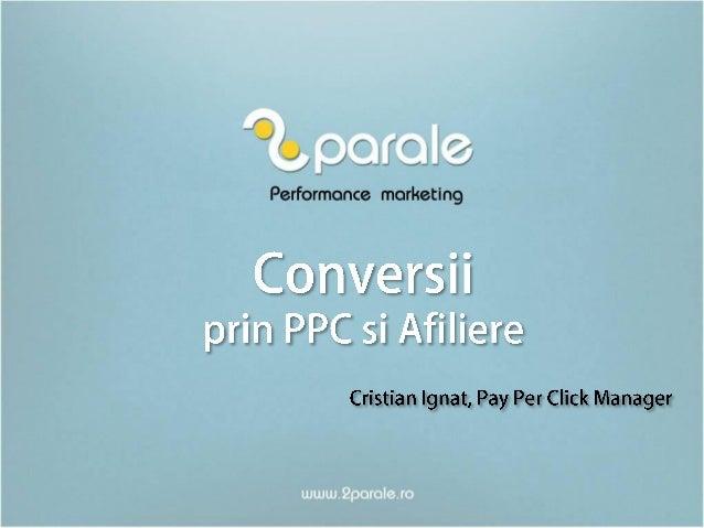 Afilierea prin PPC - intalnire 2Parale
