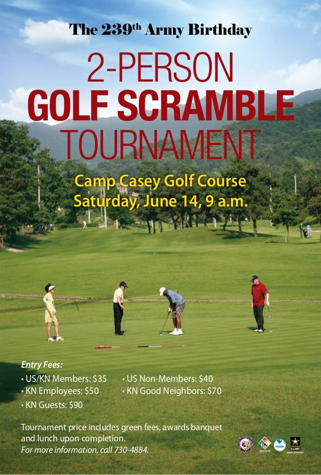 2person Scramble Golf