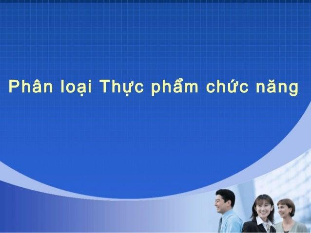 2 phan loai thuc pham chuc nang